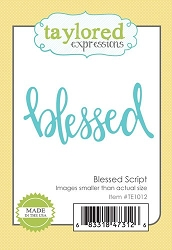 Taylored Expressions - Cutting Die - Blessed Script