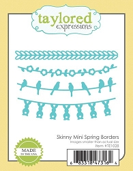 Taylored Expressions - Cutting Die - Skinny Mini Spring Borders