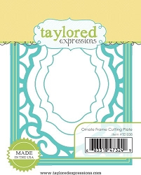 Taylored Expressions - Cutting Die - Ornate Frame Cutting Plate