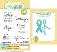 Taylored Expressions - Rubber Cling Stamps & Die Set - Choose Hope