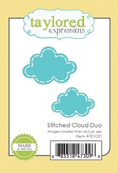 Taylored Expressions - Cutting Die - Stitched Cloud Duo
