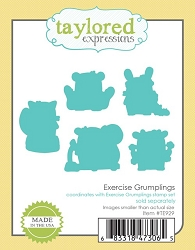 Taylored Expressions - Cutting Die - Exercise Grumplings