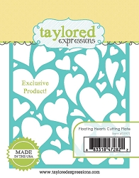 Taylored Expressions - Cutting Die - Floating Hearts Cutting Plate