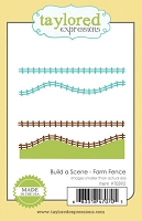 Taylored Expressions - Cutting Die - Build a Scene Farm Fence