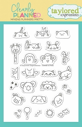 Taylored Expressions - Clearly Planned Clear Stamp - Sneak a Peek