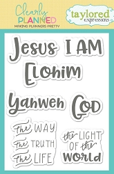 Taylored Expressions - Clearly Planned Clear Stamp - Yahweh