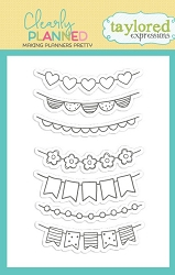 Taylored Expressions - Clearly Planned Clear Stamp - Cheery Banners