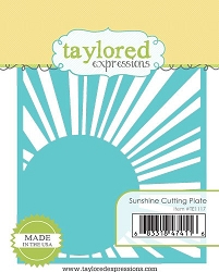 Taylored Expressions - Cutting Die - Sunshine Cutting Plate