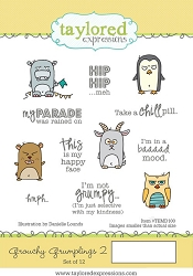 Taylored Expressions - Cling Mounted Rubber Stamp - Grouchy Grumplings 2