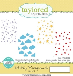 Taylored Expressions - Cling Mounted Rubber Stamp - Matchy Backgrounds