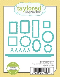 Taylored Expressions - Cutting Die - Sitting Pretty