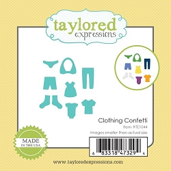 Taylored Expressions - Cutting Die - Little Bits Clothing Confetti
