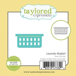 Taylored Expressions - Cutting Die - Little Bits Laundry Basket