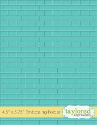 Taylored Expressions - Embossing Folder - Subway Tiles