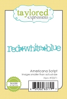 Taylored Expressions - Cutting Die - Little Bits Americana Script