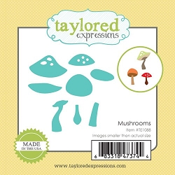 Taylored Expressions - Cutting Die - Little Bits Mushrooms
