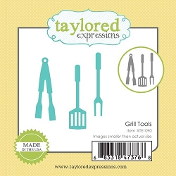 Taylored Expressions - Cutting Die - Little Bits Grill Tools