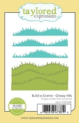 Taylored Expressions - Cutting Die - Build a Scene Grassy Hills