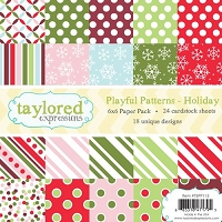 Taylored Expressions - 6x6 Paper Pad - Playful Patterns Holiday