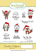 Taylored Expressions - Cling Mounted Rubber Stamp - Santa's Helpers