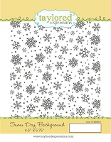 Taylored Expressions - Cling Mounted Rubber Stamp - Snow Day Background