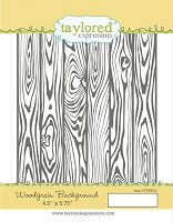 Taylored Expressions - Cling Mounted Rubber Stamp - Woodgrain Background