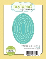 Taylored Expressions - Cutting Die - Stitched Oval Stacklets