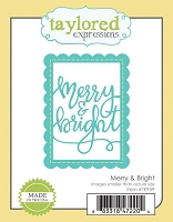 Taylored Expressions - Cutting Die - Merry & Bright