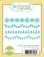 Taylored Expressions - Cutting Die - Skinny Mini Holiday Borders