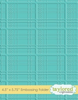 Taylored Expressions - Embossing Folder - Plaid