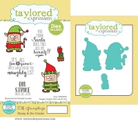 Taylored Expressions - Rubber Cling Stamps & Die Set - Elf Grumplings