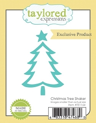 Taylored Expressions - Cutting Die - Christmas Tree Shaker