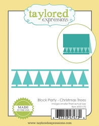Taylored Expressions - Cutting Die - Christmas Tree Block Party