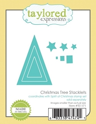 Taylored Expressions - Cutting Die - Christmas Tree Stacklets
