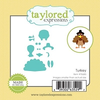 Taylored Expressions - Cutting Die - Little Bits Turkey