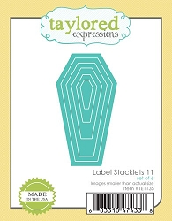Taylored Expressions - Cutting Die - Labels Stacklet 11 (coffin)