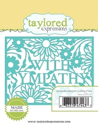 Taylored Expressions - Cutting Die - Sympathy Blooms Cutting Plate