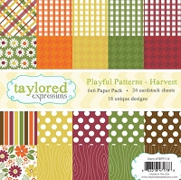 Taylored Expressions - 6x6 Paper Pad - Playful Patterns Harvest