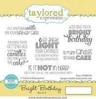 Taylored Expressions - Cling Mounted Rubber Stamp - Bright Birthday