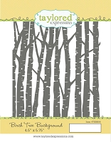 Taylored Expressions - Cling Mounted Rubber Stamp - Birch Tree Background