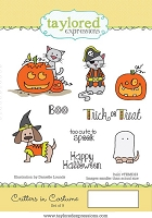 Taylored Expressions - Cling Mounted Rubber Stamp - Critters in Costume