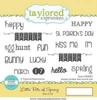 Taylored Expressions - Cling Mounted Rubber Stamp - Little Bits of Spring