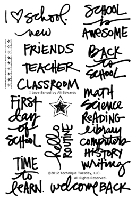 Technique Tuesday-Clear Stamp Set- I Love School (by Ali Edwards)