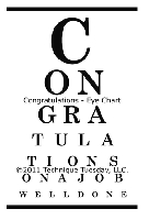 Technique Tuesday - Clear Stamp - Congratulations/Eye Chart