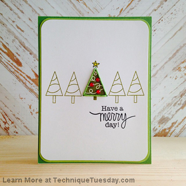 Technique Tuesday - new clear stamps and new dies