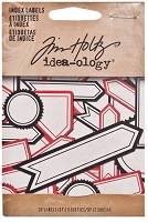 Advantus - Tim Holtz Idea-ology - Self-Adhesive Index Labels Matchbook - Red & Black
