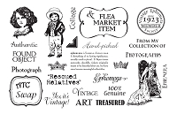 TJ Designs - Cling Mounted Rubber Stamp Collection by TweetyJill - Vintage Epehmera