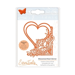 Tonic Studios - Cutting Die - Essentials Fanciful Florals Blossomed Heart Corner die