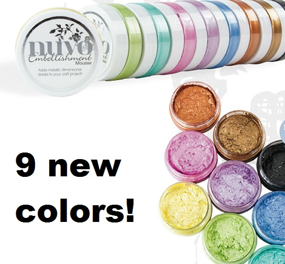 Tonic Studios - 9 new colors of Nuvo Embellishment Mousse