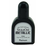 Tsukineko Staz-On Ink Refill - Metallic Platinum